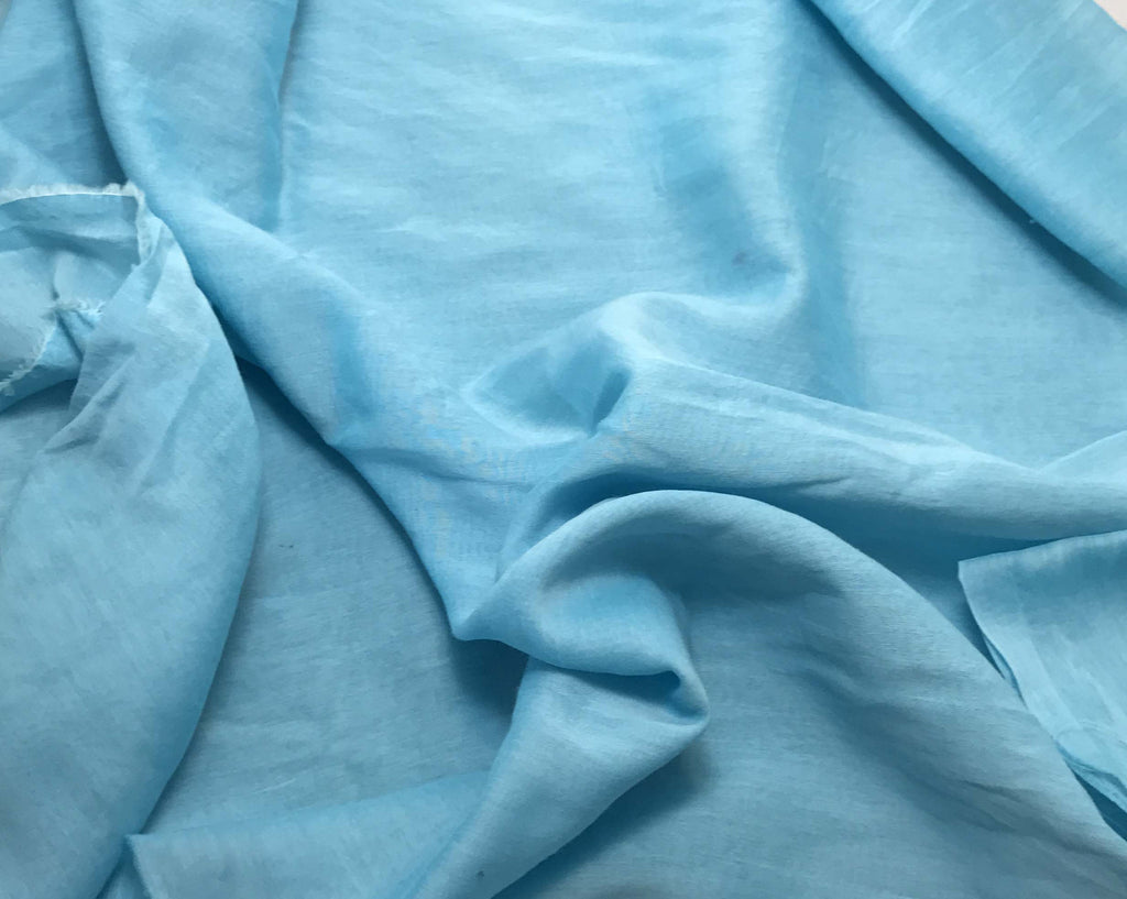 Aquamarine - Hand Dyed Silk/Cotton Voile