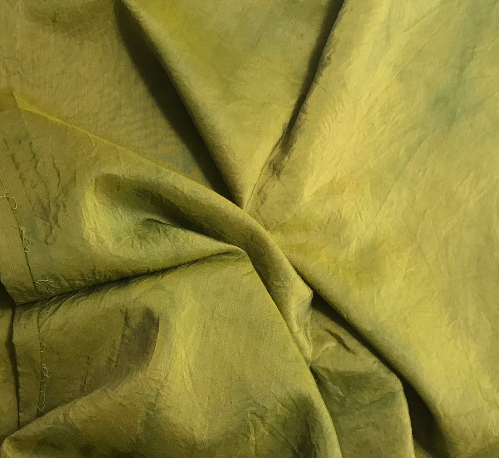 Avocado Green - Hand Dyed Silk/ Cotton Habotai