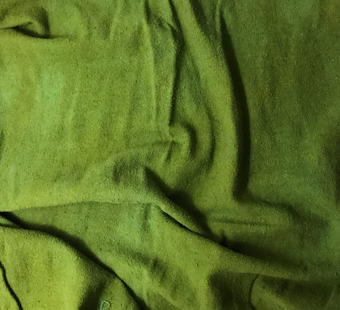 Avocado Green - Hand Dyed Silk Noil