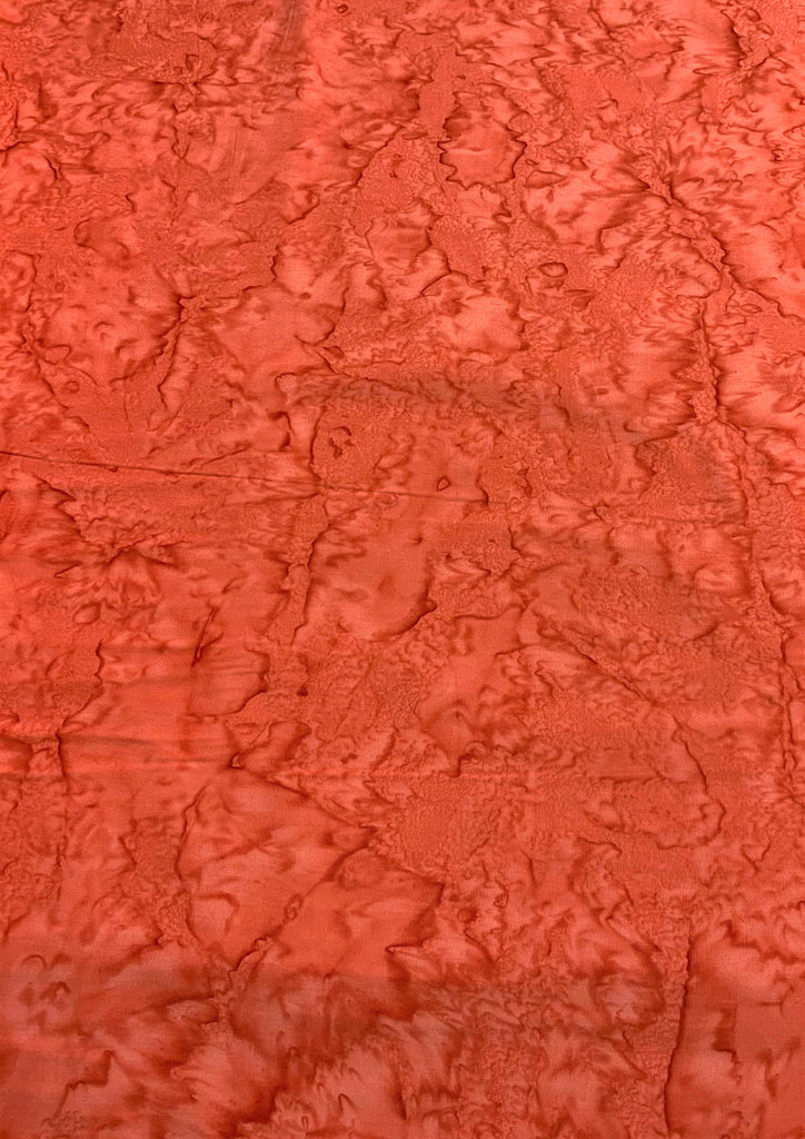 Blood Orange Shadows - Banyan Batik Tone on Tone 100% Cotton Fabric