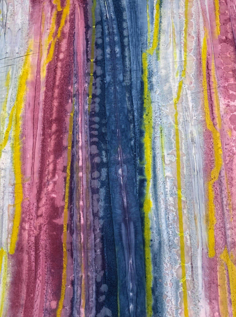 White Blue Pink Watercolor - Color Me Banyan - Banyan Batiks Studio for Northcott Fabric