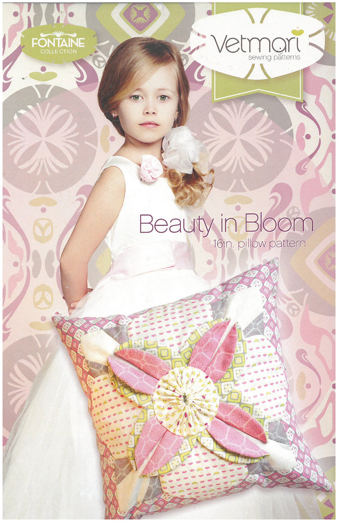 Beauty in Bloom 16in. Pillow Pattern - Vetmari Sewing Patterns