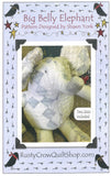 Big Belly Elephant Stuffed Animal Pattern - Rusty Crow Quilt Shop Pattern