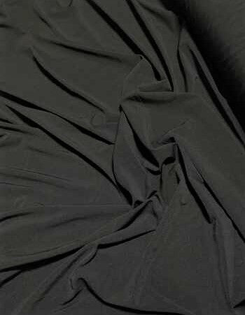 Black - Polyester Stretch Knit Fabric