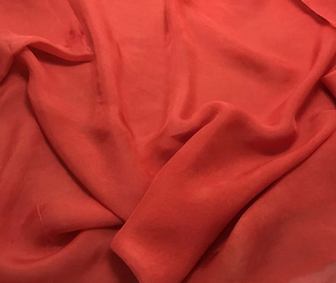 Blood Orange - Hand Dyed Soft Silk Organza