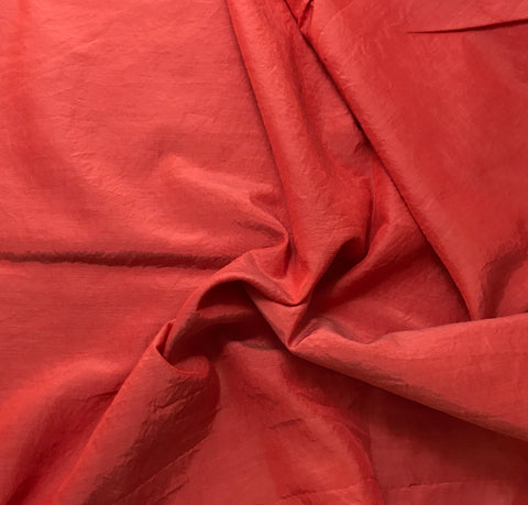 Blood Orange - Hand Dyed Silk/ Cotton Habotai