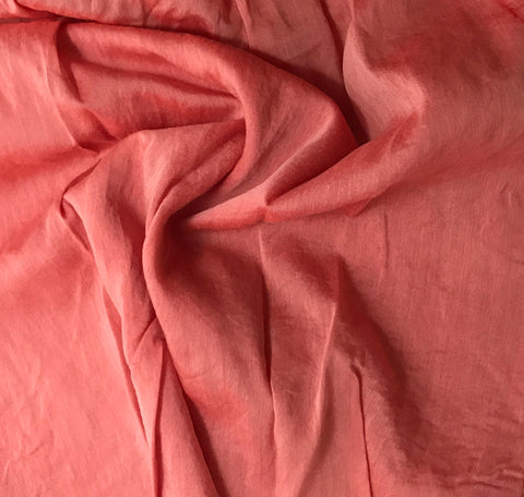 Blood Orange - Hand Dyed Silk/Cotton Voile