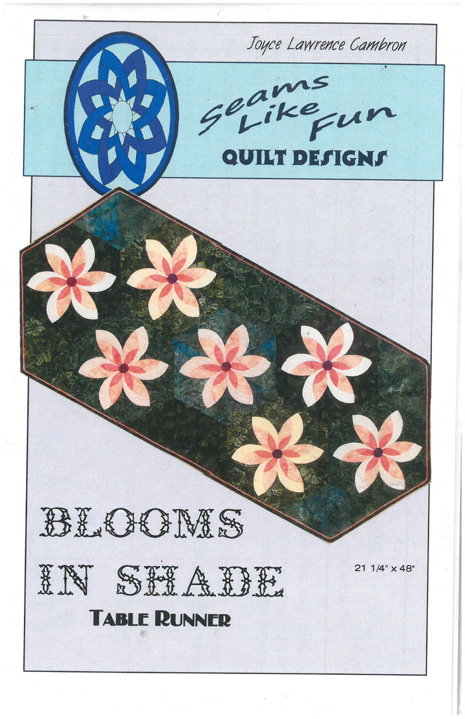 Blooms in Shade Table Runner Pattern -Seams Like Fun
