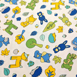 Babe in the Woods - White/Blue - Maywood Studio Cotton Flannel Fabric