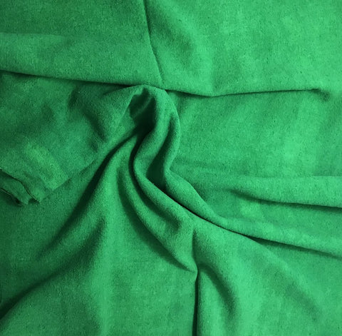 Bright Kelly Green - Hand Dyed Silk Noil