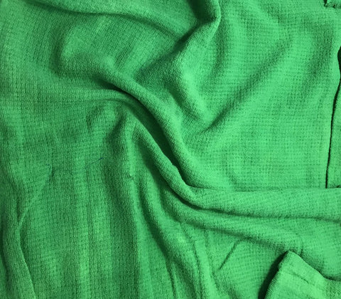 Bright Kelly Green - Hand Dyed Squares Weave Silk Noil