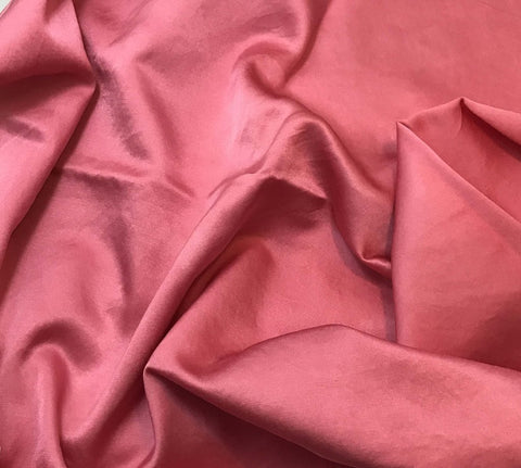 Bubblegum Pink - Hand Dyed Silk/Cotton Satin