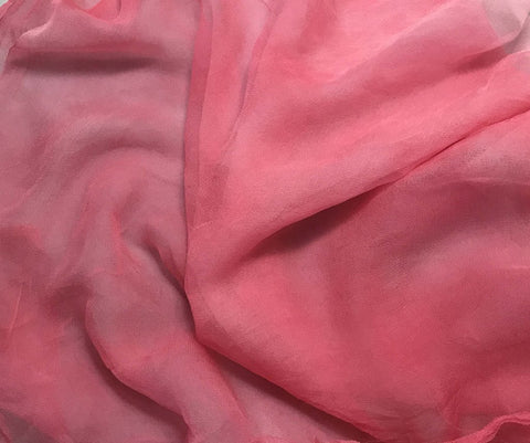 Bubblegum Pink - 3mm Hand Dyed Silk Gauze Chiffon
