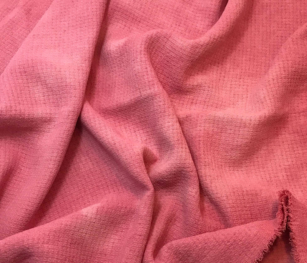 "Bubblegum Pink - Hand Dyed Squares Weave Silk Noil (45"")"