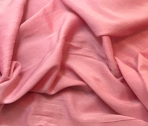 Bubblegum Pink - Hand Dyed Silk/Cotton Voile