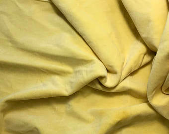 Butter Yellow - Hand Dyed Cotton Velveteen