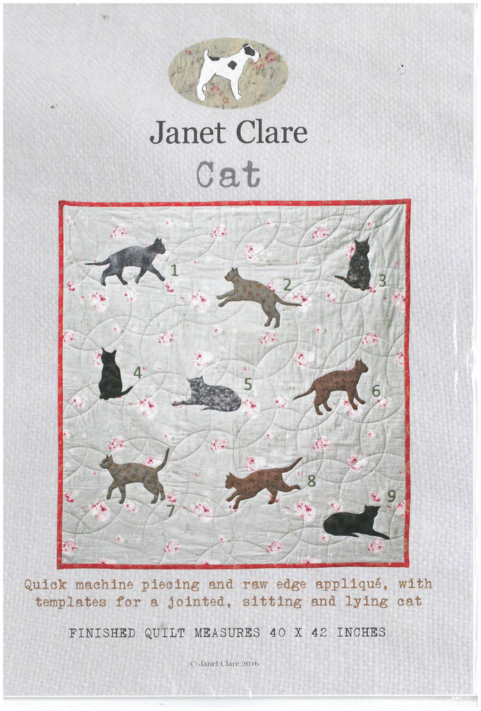 Cat Quilt Pattern -Janet Clare