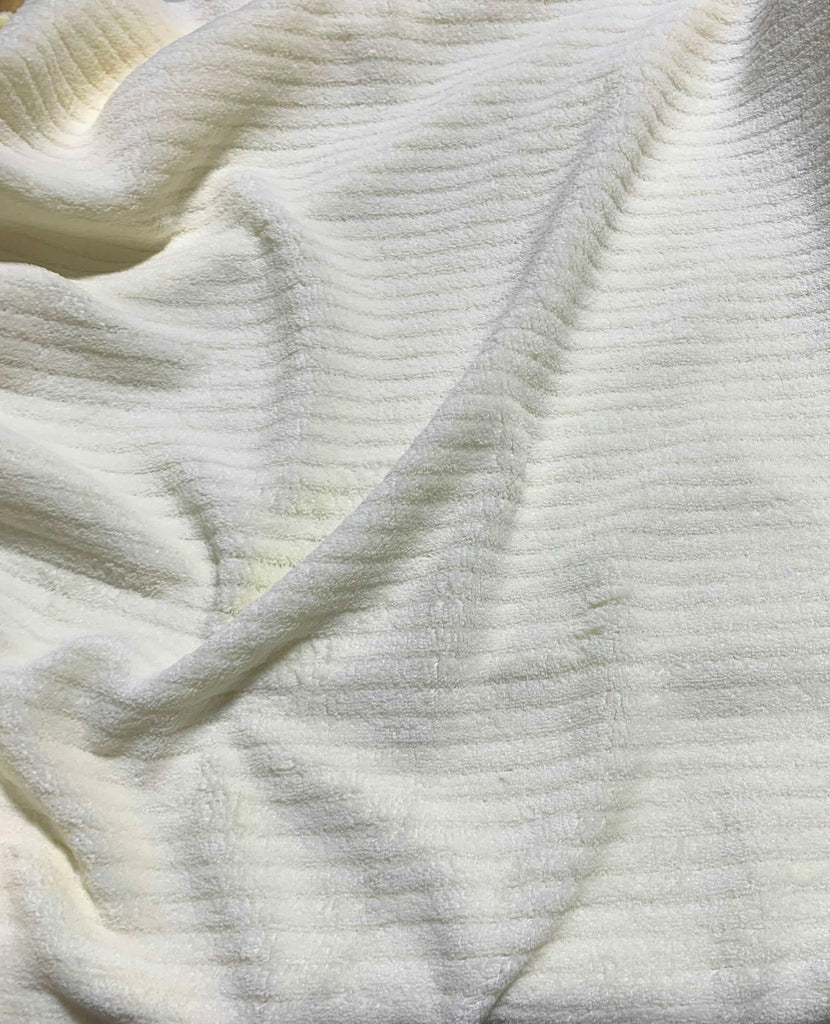 Ivory - Chenille Plush Fleece - David Textiles