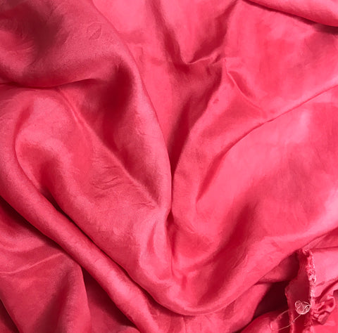 Cherry Red - Hand Dyed Silk Twill