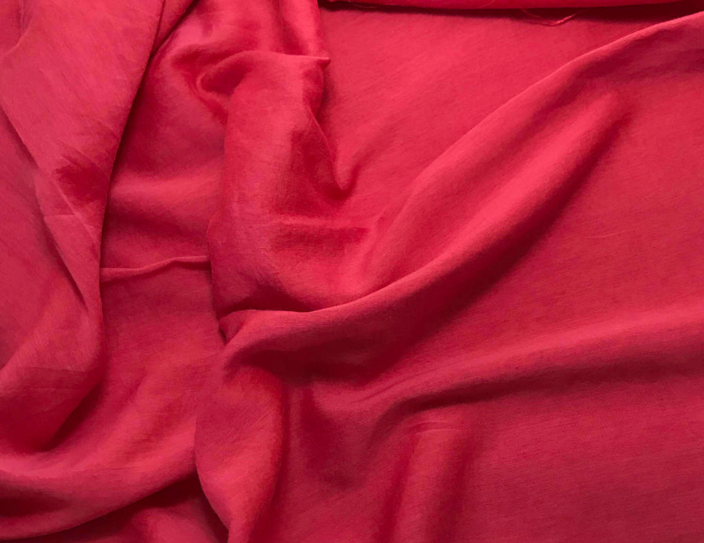 Cherry Red - Hand Dyed Silk/Cotton Voile
