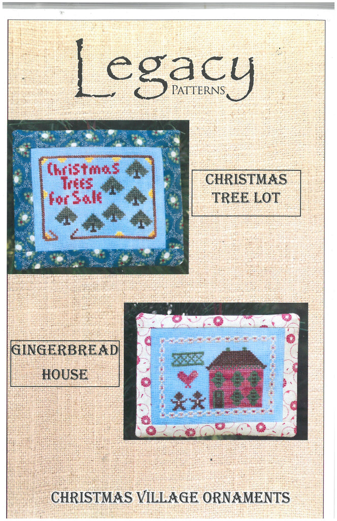 Christmas Village Ornaments Embroidery Patterns - Legacy Patterns