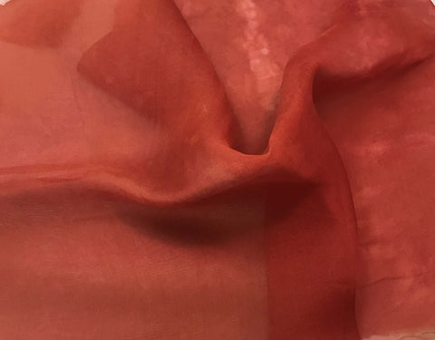 Coral - Hand Dyed Silk Organza