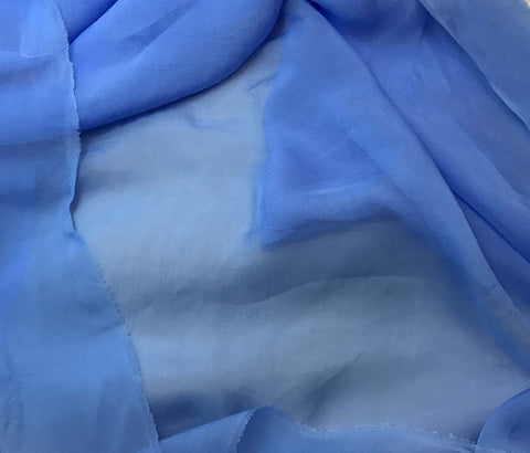 Cornflower Blue - Hand Dyed Soft Silk Organza