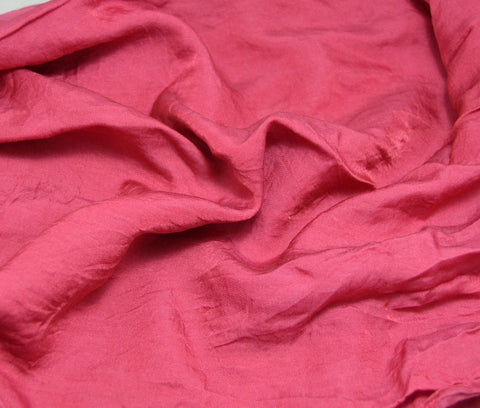 Cranberry Red - Hand Dyed Silk/Cotton Sateen