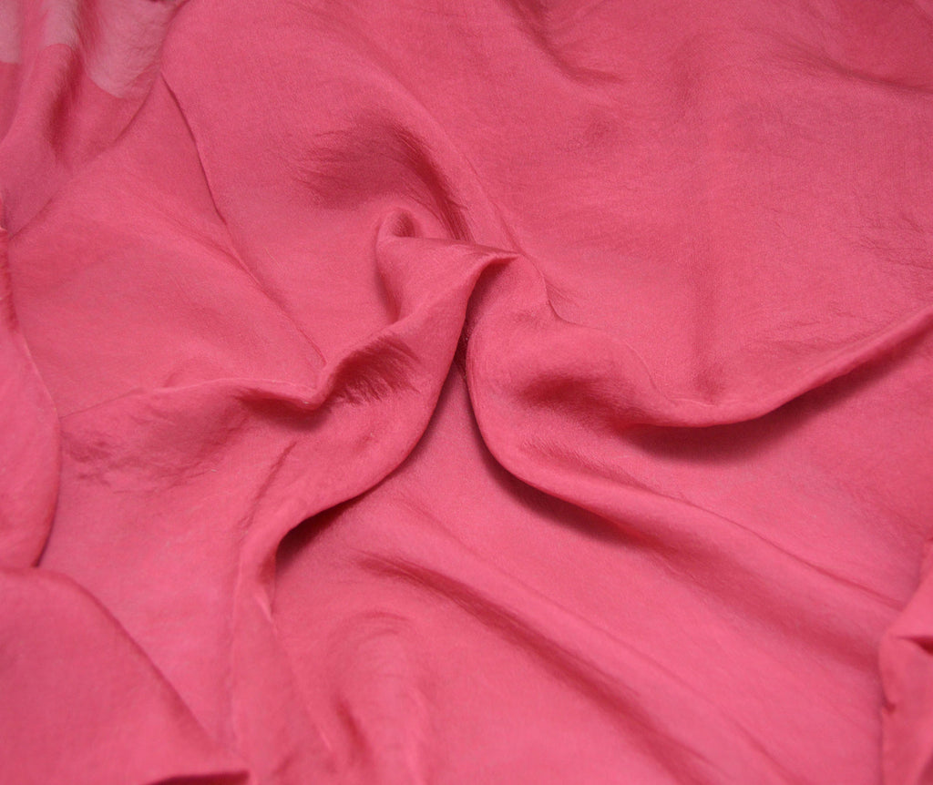 Cranberry Red - Hand Dyed Soft Silk Organza
