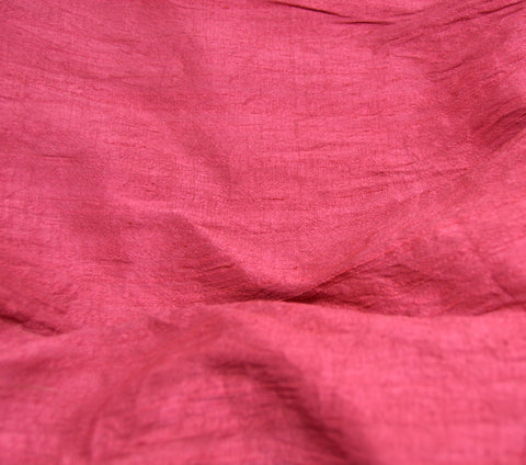 Cranbery Red - Hand Dyed Silk Dupioni