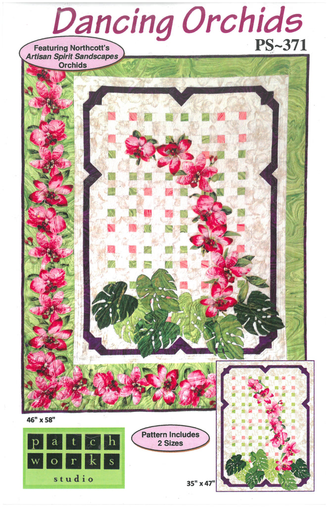 Dancing Orchids - Patch Works Studio Quilt Pattern