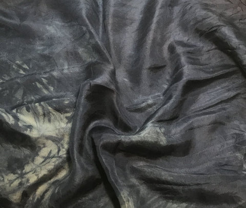 Dark Denim Blue - Hand Dyed Silk Habotai