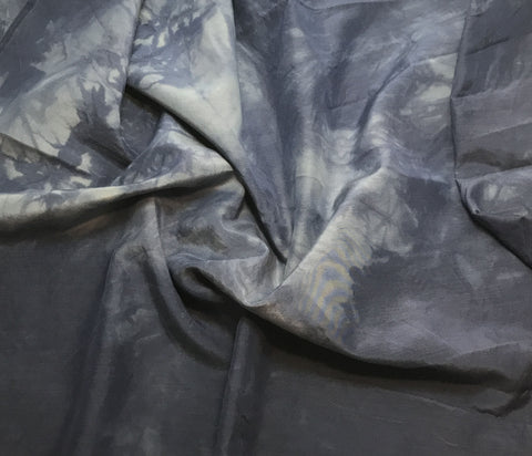 Dark Denim Blue - Hand Dyed Silk/ Cotton Habotai