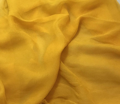 Dark Golden Poppy - 3mm Hand Dyed Silk Gauze Chiffon