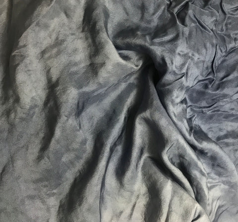Denim Blue - Hand Dyed Silk Twill