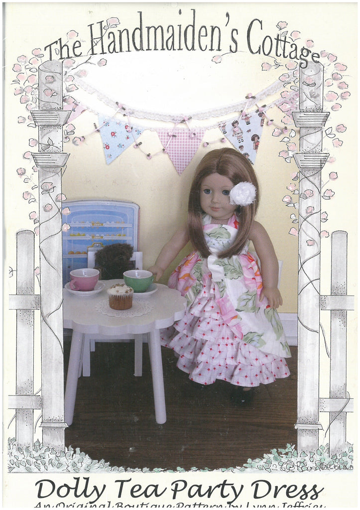 The Dolly Tea Party Dress Pattern - The Handmaidens's Cottage Doll Dress Pattern