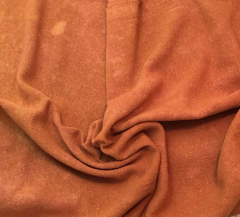 Dusty Orange - Hand Dyed Poplin Gauze Silk Noil