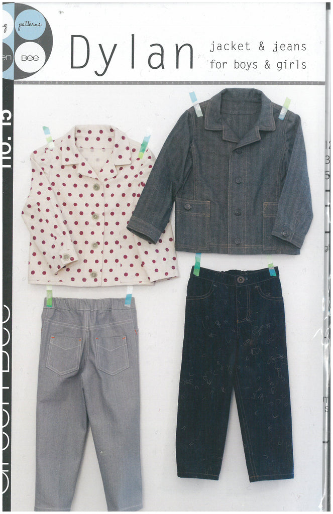 Dylan Jacket & Jeans for Boys & Girls - Green Bee Patterns