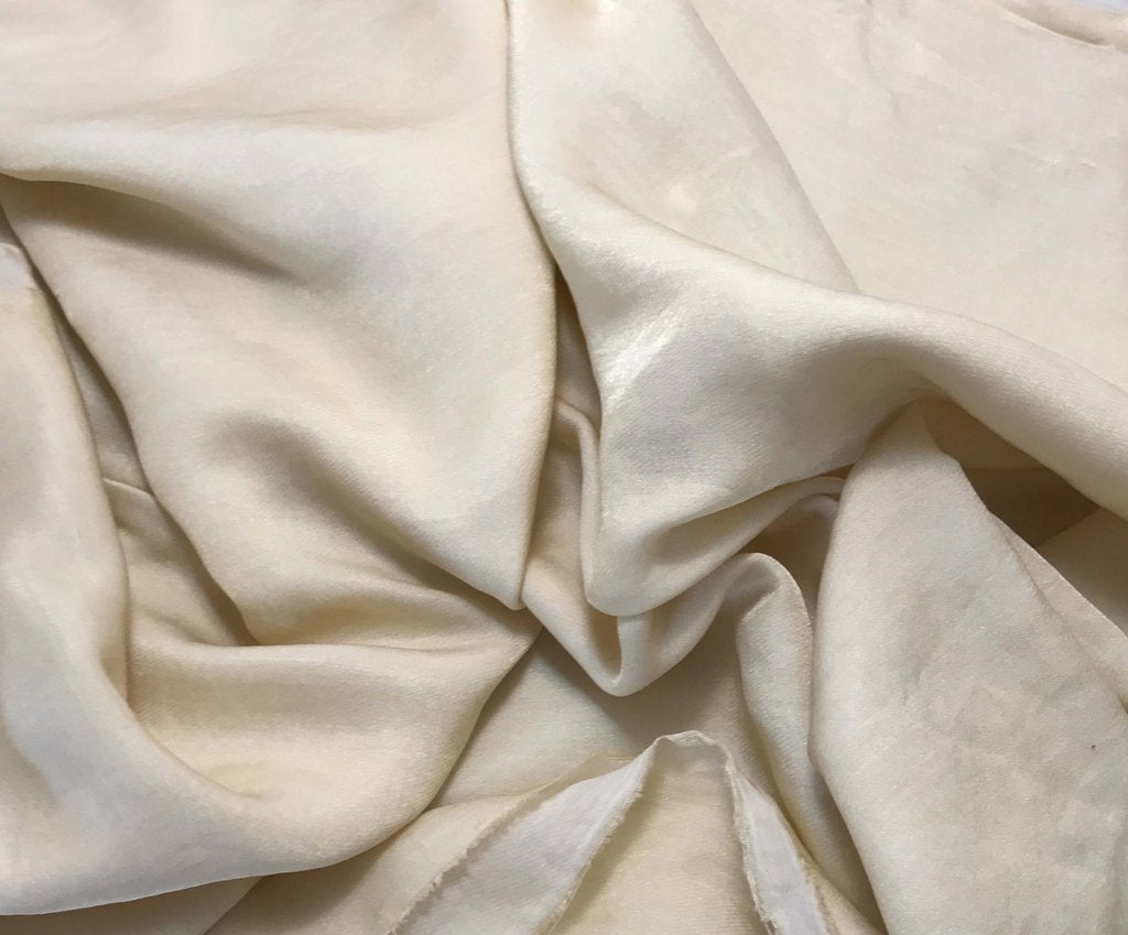 Ecru - Hand Dyed Silk/Cotton Sateen