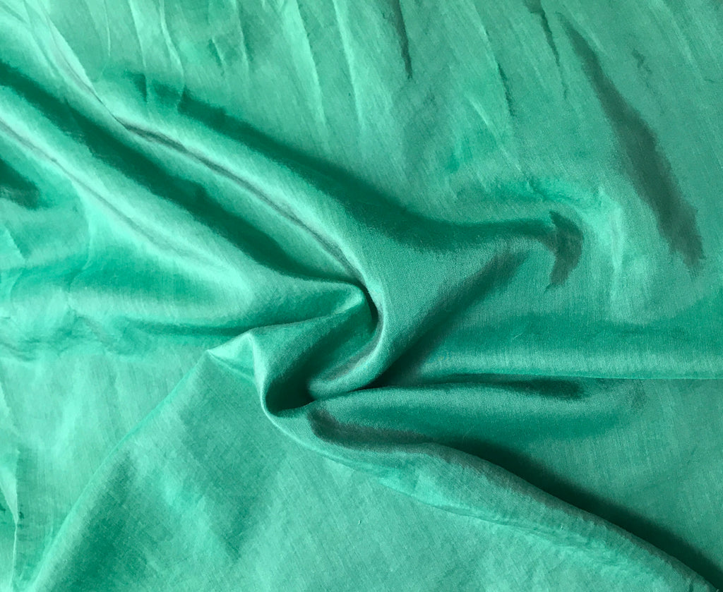 Emerald - Hand Dyed Silk/ Cotton Habotai