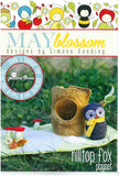 Hilltop Fox Playset - Owl, Playmat & Tree Stump Sewing Pattern - May Blossom