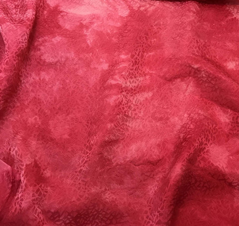 Fuchsia Pink Pebbles - Hand Dyed Silk Jacquard