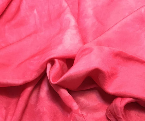 Fuchsia Pink - Hand Dyed Silk/Cotton Sateen