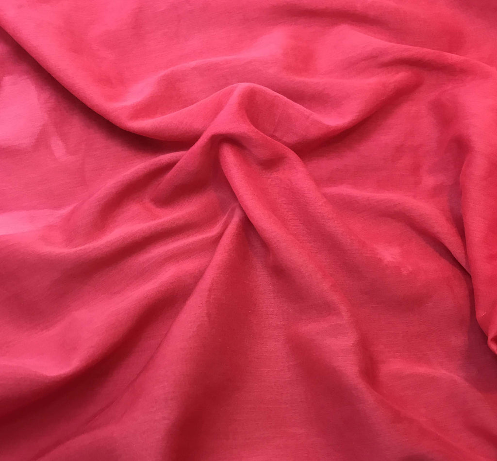 "Fuchsia Pink - Hand Dyed Silk/Cotton Voile (54"")"