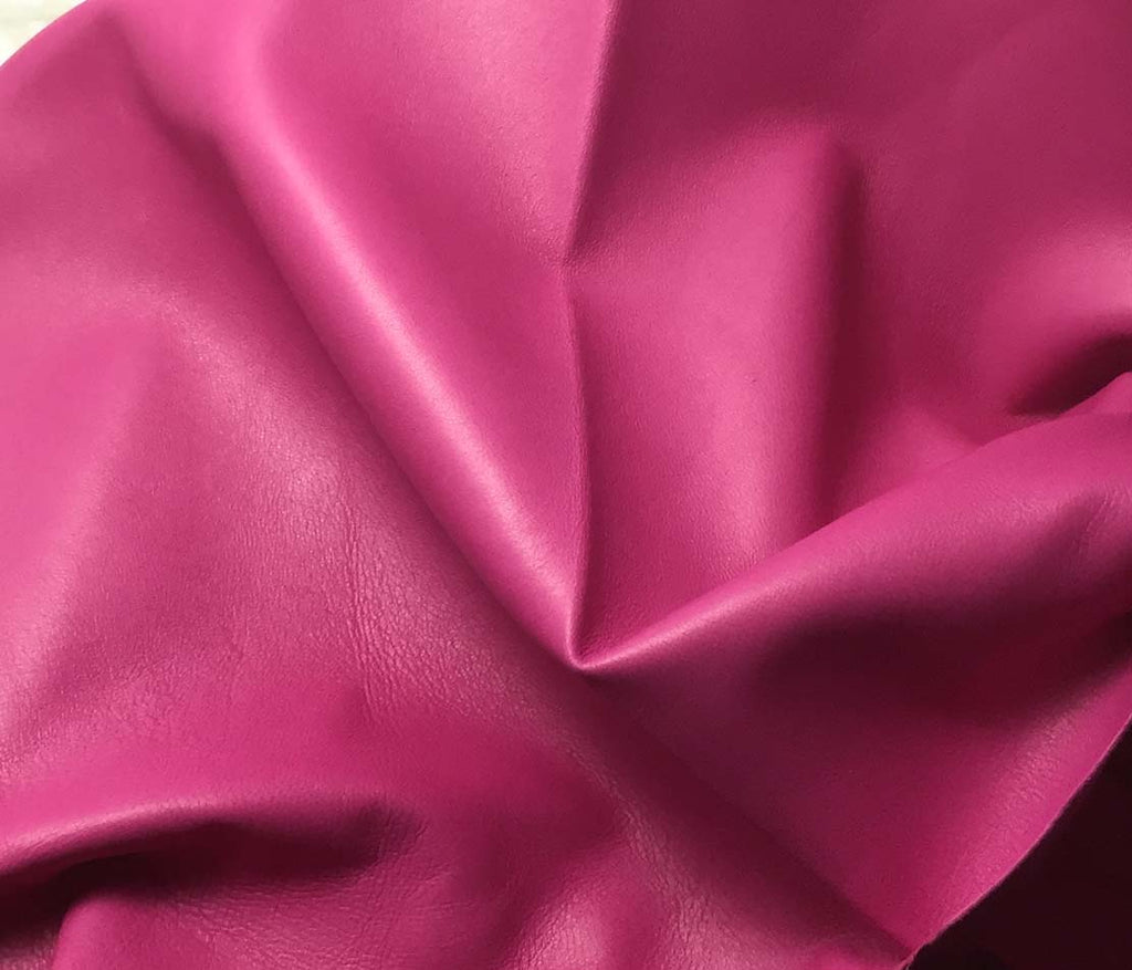 Fuchsia Pink - Lambskin Leather