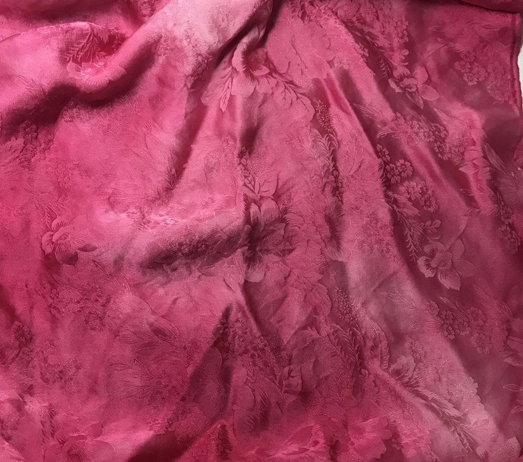 Fuchsia Floral - Hand Dyed Silk Jacquard