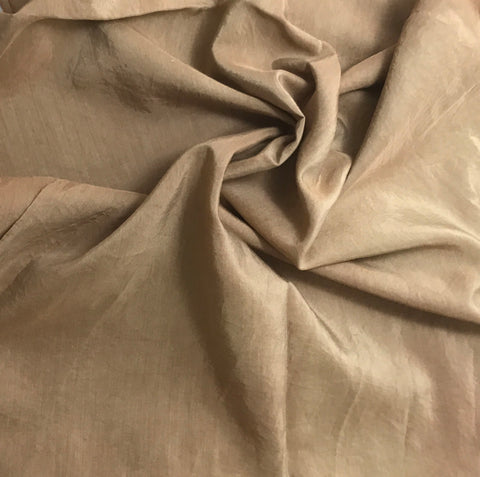 Golden Brown - Hand Dyed Silk/ Cotton Habotai