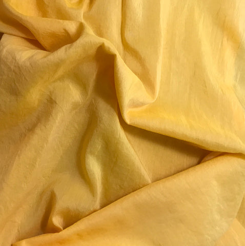 Golden Yellow - Hand Dyed Silk/Cotton Voile