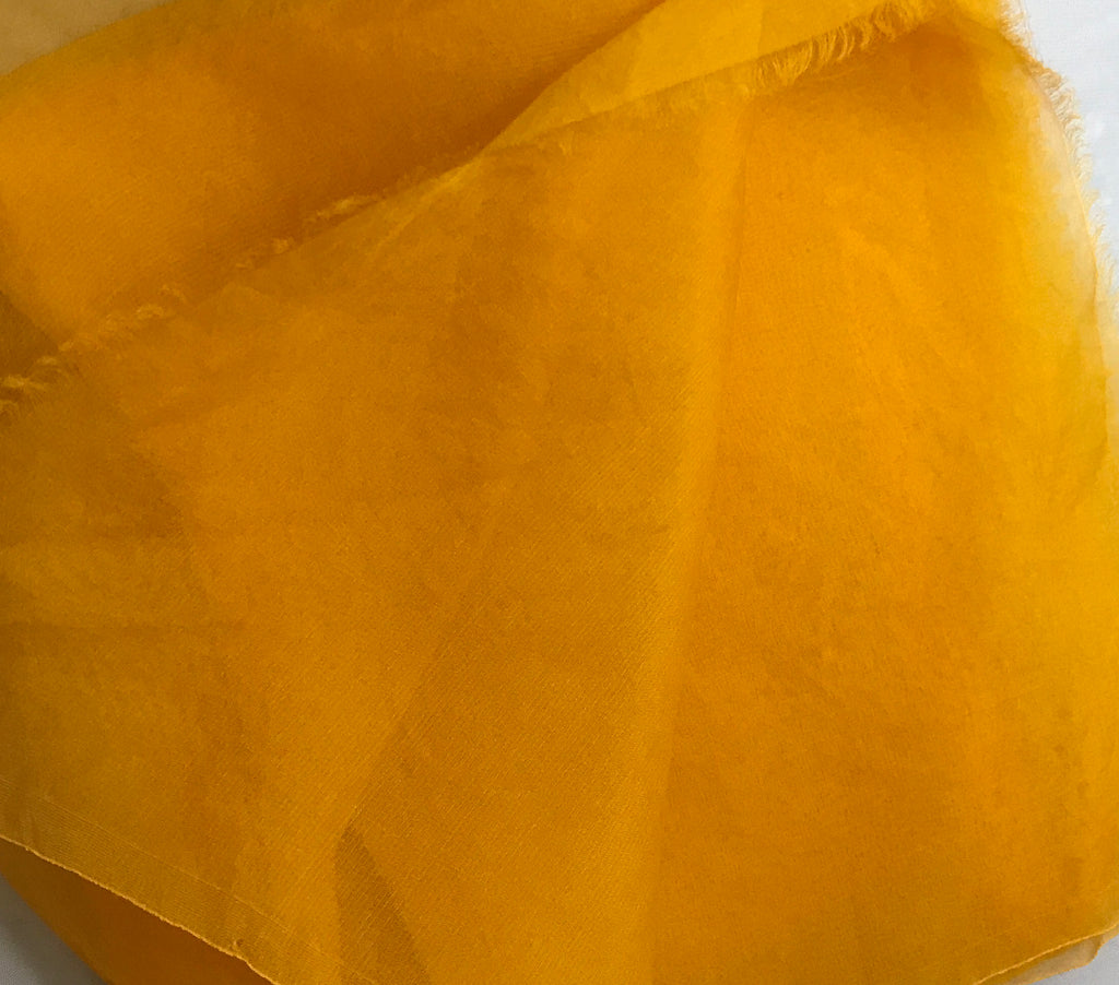 Golden Yellow - Hand Dyed Silk Organza