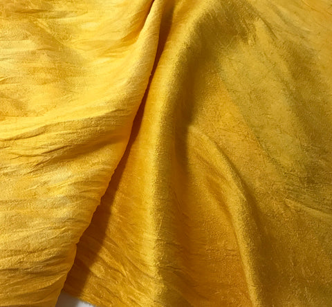 Golden Yellow - Hand Dyed Silk Dupioni
